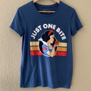 Disney Snow White just one bite womens T-Shirt S